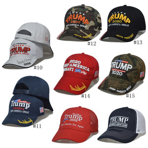 15style Trump Baseball Cap Keep America Great Again Hats 2020 Campaign USA 45 American Flag Hat Canvas Embroidered Caps Snapback GGA3611