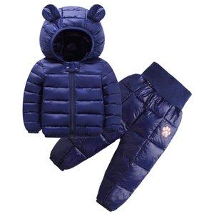 Autumn Winter Children Clothing Girls Down cotton Casual Sports T-shirt Pants 2pcs Set Winter Infant Outfit Kids Clothes Suit Tracksuits