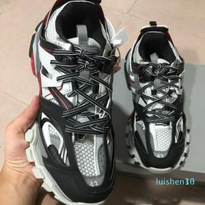 Дизайнерская обувь Тройной 3,0 Кроссовки Luxury человек повседневная обувь женщин платформы на открытом воздухе кроссовки платформы мужские Кроссовки Chaussures c21 L16