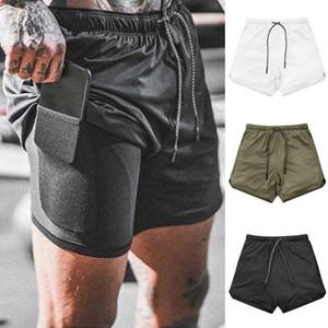 Verão Shorts Camouflage impressão soltas Mens Casual Shorts Black White cordão cintura com bolsos Homens Plus Size M-3XL