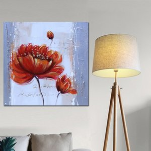 Óleo abstracta moderna de la flor roja Amapolas Pintura sobre lienzo Vintage Poster Art Prints Pared de imagen para la sala Salon Decoración