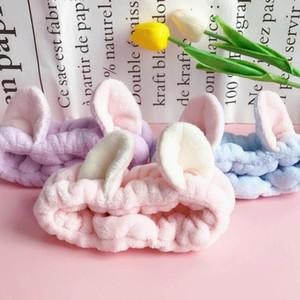 Orecchie nuovi arrivi gatto bello corallo del panno morbido le fasce per le donne Face Wash trucco SPA morbida Hairbands Headwear Accessori per capelli
