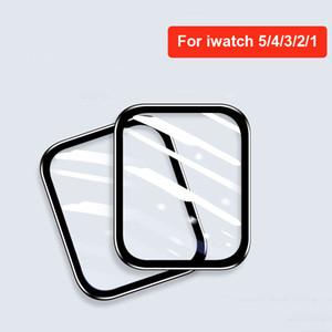 Verre trempé 3D Colle complète pour une montre Apple 44mm 42mm 40mm 38mm 38mm Couverture complète Série Série 5 3 4 pour iWatch