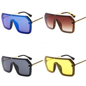 Duplo F Sunglasses Quadro do metal do ouro óculos com lentes claras óculos polarizados aro chifre de búfalo Sun Óculos de Moda de Nova Marca Madeira Caso # 483