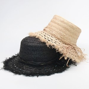 2020 Fashionable Tea Party Hats For Women Foldable Raffia Beach Elegant Summer Sun Bucket Hat Wholesale S1063 Y200716