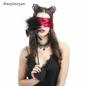 4 Saç Bandı Four Yeni flört tüy çubuğu zar göz maskesi kristal kolye siyah kedi kulak saç bandı dört parçalı seti Dört parçalı seti