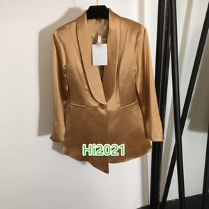 high end women girl casual solid color irregular blazer coat single breasted lapel neck long sleeve loose jacket 2020 fashion design tops