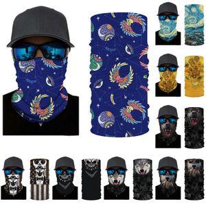 DHL shipping Magic Cycling Scarf Mask 24 Styles Outdoor Multifunction Headscarf Sport Ski Wind Cap Riding Balaclavas Turban Face Mask L398FA