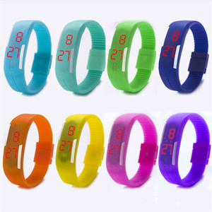 Sport LED Watches Candy Color Silicone Rubber Touch Screen Digital Watches Waterproof