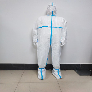 New High Quality PP+PE Conjoined ProtectiveClothing Antibacterial Unisex Adult Overall Suit Ordinary Protection Suit Anti-fog Dustproof
