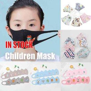 Kumaş PM2.5 Çocuk Anti-kirlilik Maskeleri Erkekler Kızlar Karikatür Ağız Yüz Pamuk Çocuk Anti-Dust Nefes earloop Yıkanabilir Yeniden kullanılabilir Maskeleri