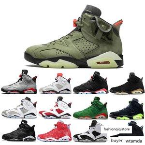 Più economico Nuova Travis Scotts X 6 Media Oliva 6s scarpe di pallacanestro degli uomini Giallo Cactus sneaker sport Jack Tinker UNC Sport DMP Oregon Mens