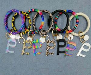 2020 Кожа PU Tassel Wristlet Keychains браслет Public Бесконтактный Лифт Кнопка Защитный ключ Инструмент Chain Key Ring E73103