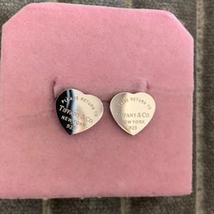 Top Design люкс серебро сердце Stud Сережка ювелирные изделия золото выросли 3 цвета серьги для женщин девочек прекрасная дружба подарков Бесплатная доставка