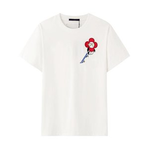 Designer Mens Women T-shirt 20FW Sunflower Embroidery Skateboard T-shirt Fashion Men Women Comfort Cool Tee with Design Geometric Size S-2XL