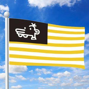 90x150cm Мэнни флаг Американский Сувенирная Желтый Белый нашивки Флаг Мэнни Флаг Символ единства и мира для наружной сад Патио 47ZV