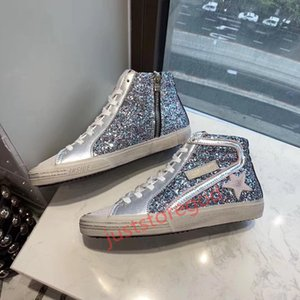 Xshfbcl New high-quality Italian handmade shoes G men and women high-top shoes sneakers leather fashion big boy super star shoes