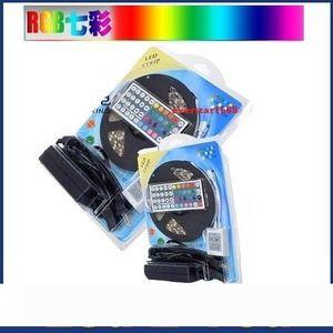 5050 RGB Светодиодные полосы огни SMD 300 LED 60LED M Гибкий светодиодный свет рулонной водонепроницаемый IP65 с 44keys контроллер + 12V 5A питания