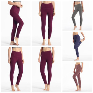 2020 top lu-32 leggings solid color womens lu yoga white icon pants 32 016 25 78 women sports workout seamless pink camo yogaworld set 235f#
