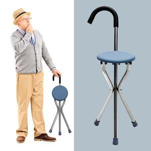 1 Yürüme / Sit Koltuk Baston Eski İnsanlar 2 ile Yaşlı Katlama Yaşlı Walker Cane İçin Saferlife Baston Sandalye Alüminyum Yürüyenler