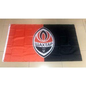 Ukraine FC Shakhtar Donetsk Flag 3x5FT 150x90cm Drucken 100D Polyester Außendekoration Flagge mit Messingösen Kostenloser Versand