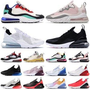 pas cher nike air max 270 react shoes réagissent chaussures de course pour hommes femmes formateurs Blanc Noir Barely Rose Bauhaus Plum Chalk Iron Grey hommes 270s baskets de sport