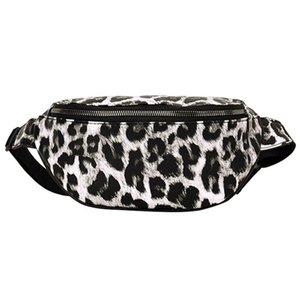 Mulheres Handbag Neutral Imprimir Outdoor Zipper Leopard Messenger Bag Esporte Peito Bag cintura