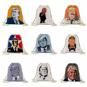 Сумка для хранения Trump Рисует Rope Bag президентских выборов в США Trump Печатных сумки Открытого Рюкзак Drawstring Карманный FoldableStorage сумка LSK541