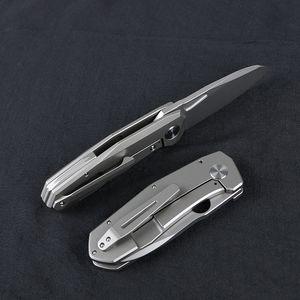 Verde spina Mouse3 coltello ruotando D2 lama titanio lega maniglia della lama della frutta esterna strumento EDC coltello pratico pieghevole