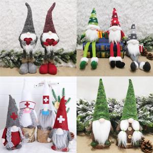 Regali della bambola Babbo Natale Giocattoli nordico Babbo Natale ornamenti lavorati a maglia di Santa bambola di Natale bambini giocattoli di Natale della decorazione della casa