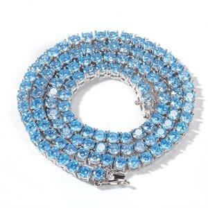 Iced Out Chains 4mm Hip Hop Jewelry Men Full Diamond Pendant Necklace Micro Cubic Zirconia Copper Set Diamond Necklace Bread Square Diamon