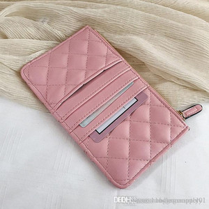 Chanel bolsos de diseño de guata de bolsos de embrague monederos Carteras titulares de señora Women Los titulares de cuero Bolsas Tarjeta de la manera Monedero Monedero #CC