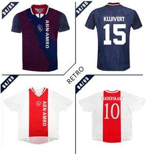 Ajax 94/95 Retro Fußball-Trikot weg klassisches Vintage antikes Fußballhemd # 15 Kluivert # 4 Rijkaard # 10 Litmanen 04 05 Retro Fußball-shir