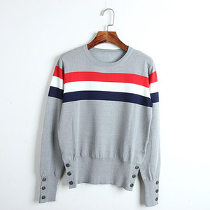 712 Free Shipping 2020 Brand Same Style Regular Long Sleeve Kint Sweater White Gray Pullover Crew Neck Top Sweater DL