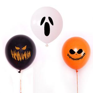 Suprimentos Halloween Ballon Decoração Designer Terrorist Expressão abóbora Fantasma Padrão Ballon Moda Natural Color Latex Balões do partido