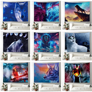The latest 150X130cm textile oil painting animal series tapestry models printed home wall hanging mural beach towel cover blanket