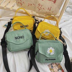 Summer 2020 new canvas women's one shoulder messenger bag, fashionable Korean handbag