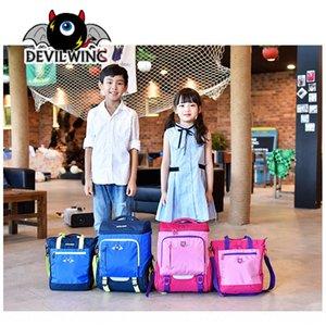 7r0Tm Kore Little Devil Devilwing çocuk Schoolbag Sırt Çantası İlköğretim Okulu Kore tarzı öğrenci okul çantası basit sırt çantası erkek ve gir