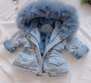 New Baby children's clothing fashion clothes fleece Jackets Girls Boys hooded jacket Baby winter jacket children's