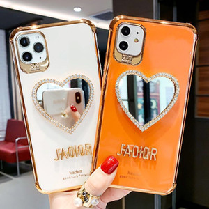 2020 cassa del telefono di nuovo di moda il trucco dello specchio con gli stents per iPhone Pro 11 Max 8 Xs Max X Xs regalo molle copertura posteriore 7 Plus Xr