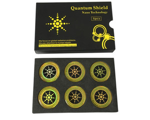 Escudo Quantum etiqueta Mobile Phone Etiqueta Para Celular Anti Radiação Proteção contra EMF Fusão Excel Anti-Radiação 6pcs / set