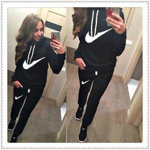 Mulheres marca agasalho jaqueta 2 set peça manga comprida calças BODYCON outwear cair roupas de inverno com painéis roupas terno atleta ocasional