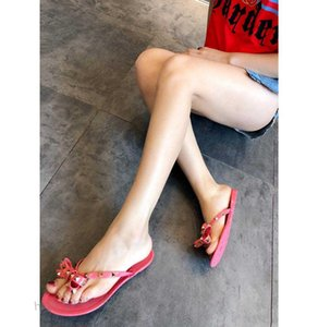 2020 NEW BRAND WOmen Summer Fashion Beach shoes,Flip-flops jelly Casual sandals,flat bottomed slippers,bowknot,Rivets Xshfbcl