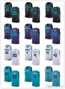 Para mujer para hombre de la JuventudCharlotteavispones30 Dell Curry 4 Devonte Graham 41 Glen verde del arroz blanco púrpura de encargo jerseys del baloncesto