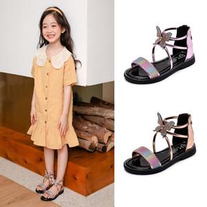 Girls Butterfly Sandals 2020 Summer New Childrens Shoes Fashion Princess Roman Shoes Girls Open Toe Sandals Big Children