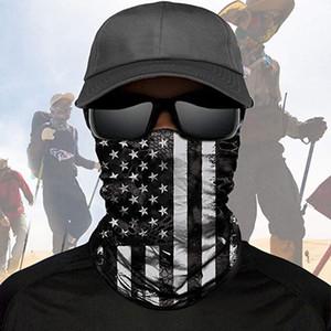 ABD Bayrağı DHL Eşarp bandanas Bağımsızlık Günü Boyun Maskeleri Sihirli Motosiklet Bisiklet Yarım Yüz Kafa Çoklu Bisiklet Eşarp bandanalar Balıkçılık Maskesi