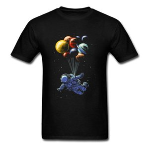 Planet Fly Astronauts Black T Shirt Men Women Youth Kids Children all Size Tee