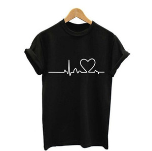 New Women T-shirts Casual Harajuku Love Printed Tops Tee Summer Female T shirt Short Sleeve T shirt For Women Clothing Y021
