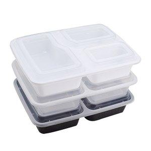1000ml Freshware Meal Prep Контейнеры для хранения продуктов Контейнеры Bento Box BPA Free Пластиковые контейнеры 3 отсек с крышкой бесплатной доставкой