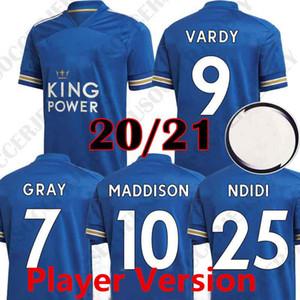 Новые 2020 2021 игрок версия Vardy SOYUNCU синий трикотажные изделия футбола 20 21 МЭДДИСОН TIELEMANS NDIDI Leicester футбольные майки